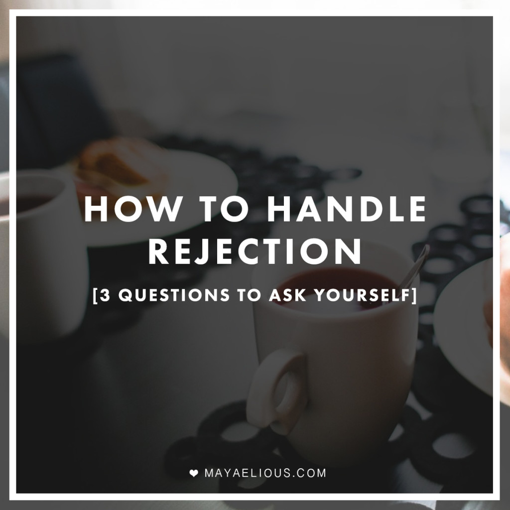 dating how to handle rejection Rejection is a natural part of the dating process, whether it's not getting a reply from your message or securing a second date the most important lesson to learn is how to cope with rejection and move on.