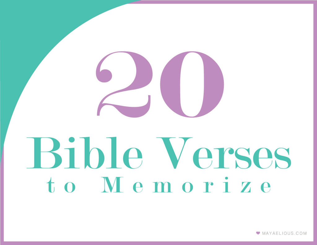 Each week we memorize a new Bible verse. I thought this printable ...